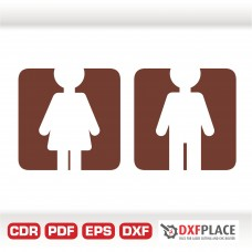 Door sign free dxf