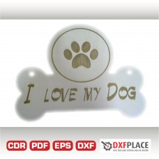 I love my dog free dxf