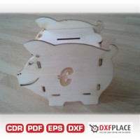 Piggy bank for coins